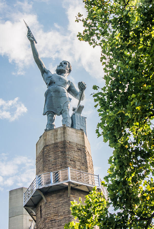Birmingham Photograph - Vulcan on a Sunny Day by Parker Cunningham