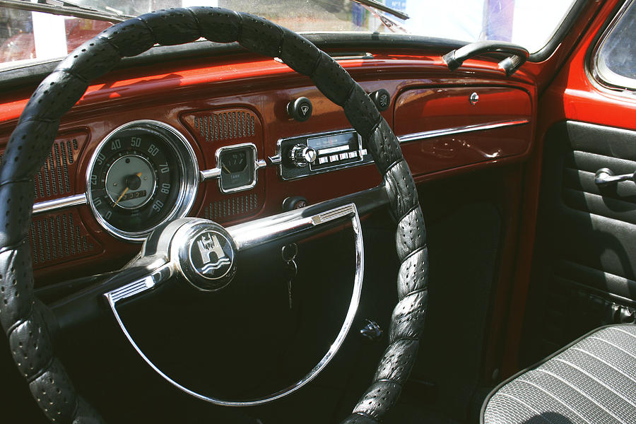 Vw Photograph - Vw Beetle Interior by Georgia Fowler