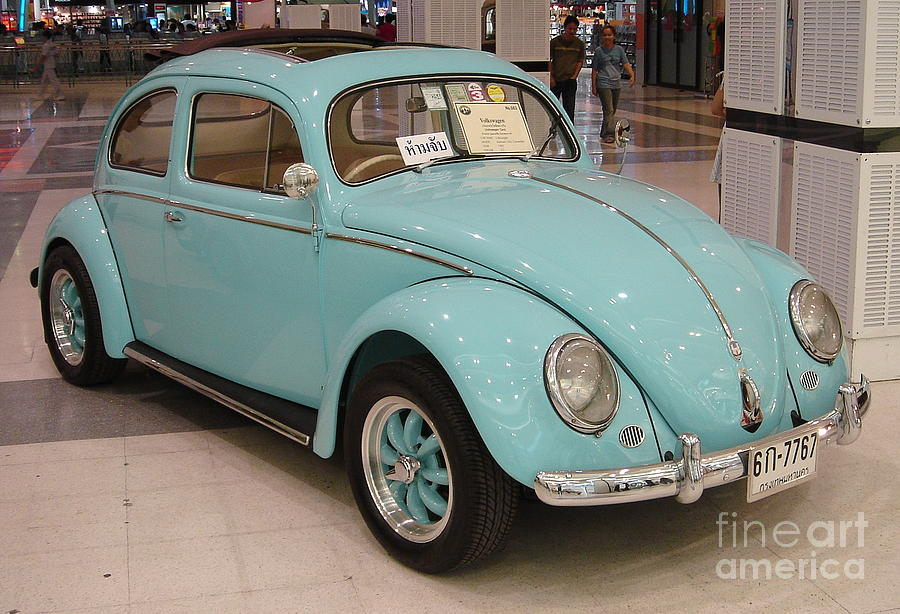 Vintage Photograph - Vw Beetle by Mike Holloway