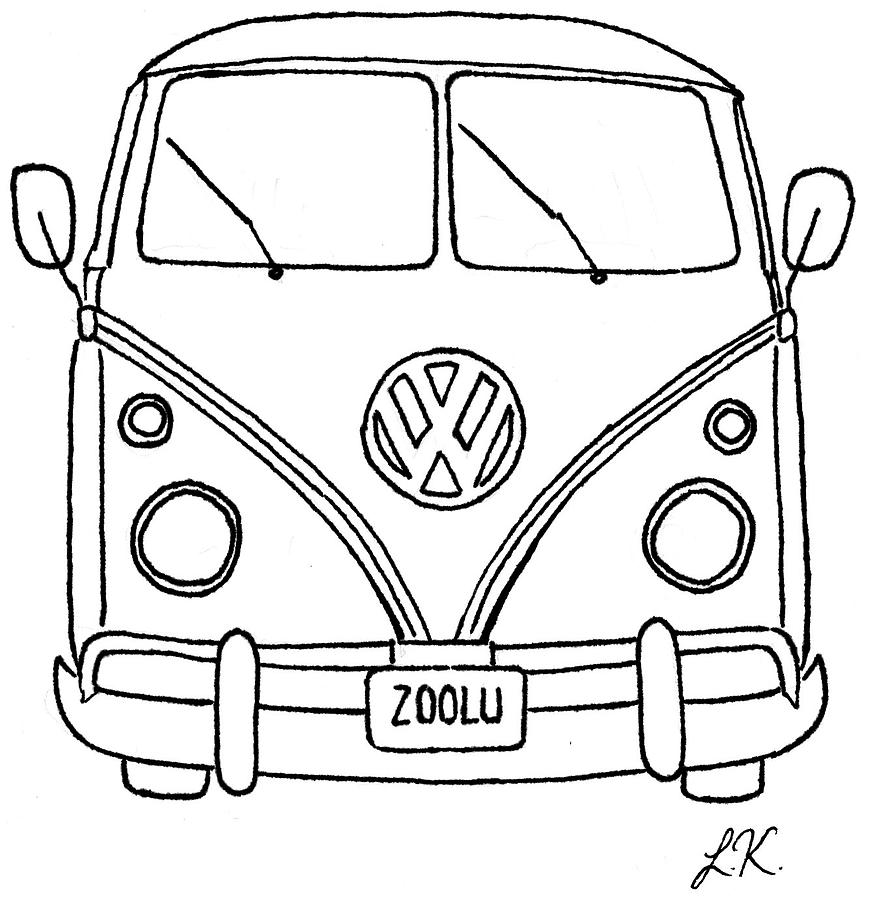 Vw Bus Drawing By Lauren Kirby