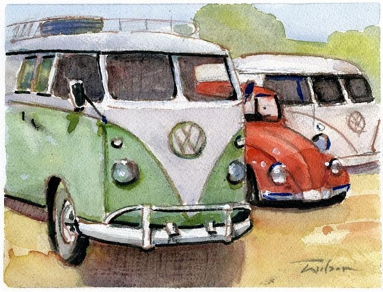 Vw Painting - VW3 by Ron Wilson