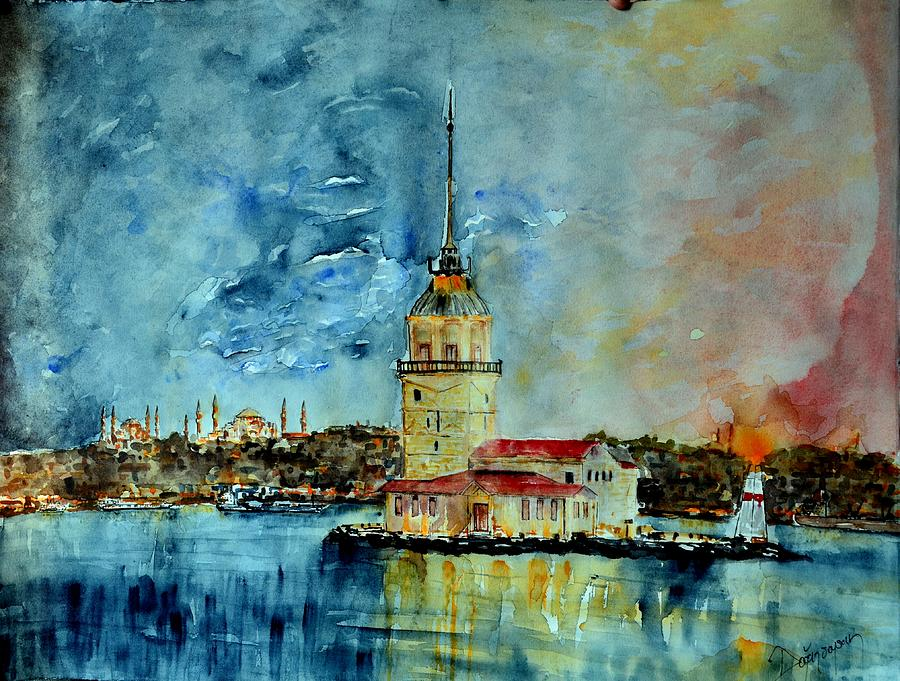 Istanbul Painting - W 57 Istanbul by Dogan Soysal