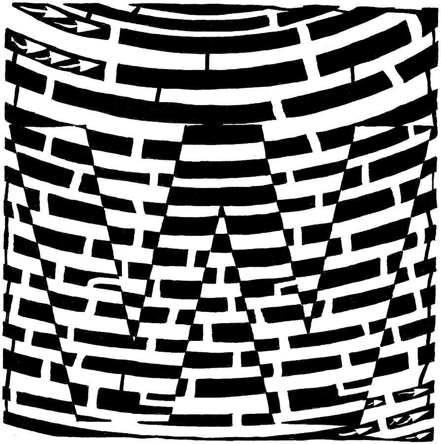 Yonatan Drawing - W Maze by Yonatan Frimer Maze Artist