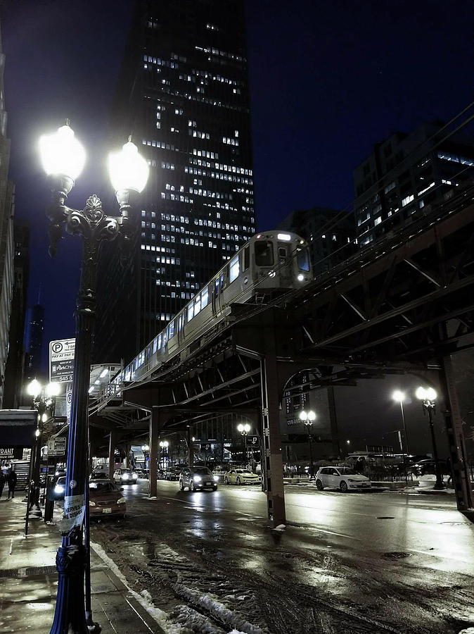 Chicago Photograph - Wabash El by Sue Conwell
