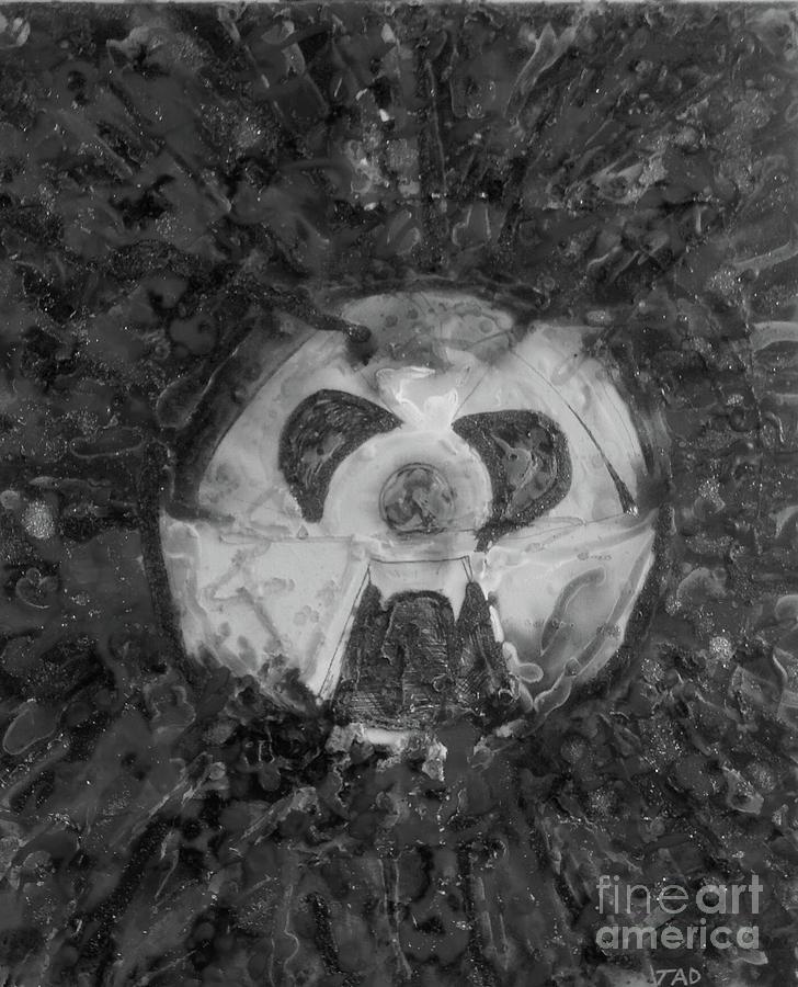 Wabi Sabi Nutz Monochrome Painting By Trevor Desrosiers