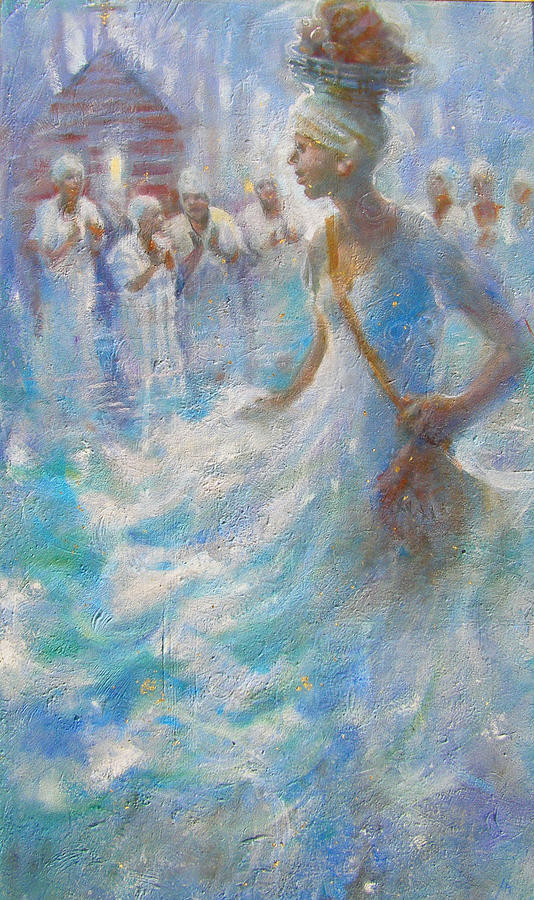 Slave Painting - Wade In The Water by Gertrude Palmer