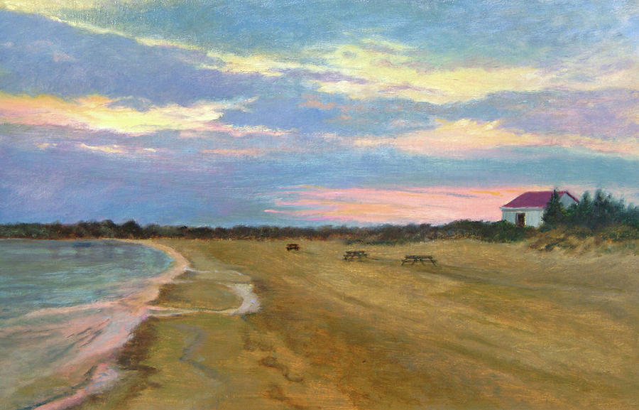 Oil Landscape Painting - Wades Beach Sundown Study II by Phyllis Tarlow
