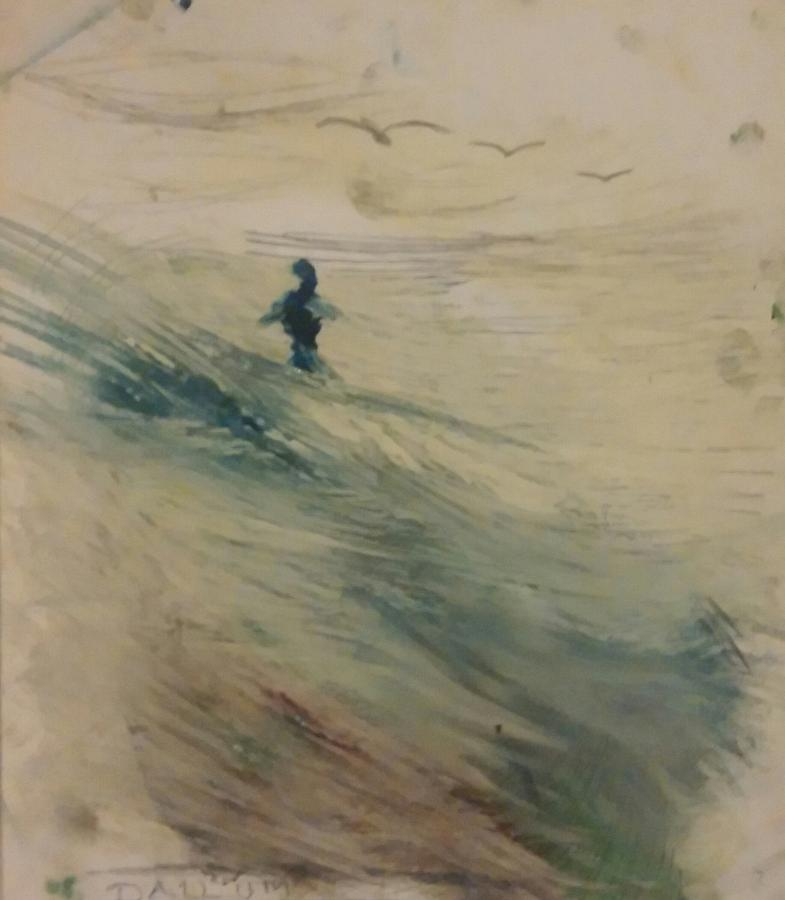 Wading In The Surf Painting by Gregory Dallum