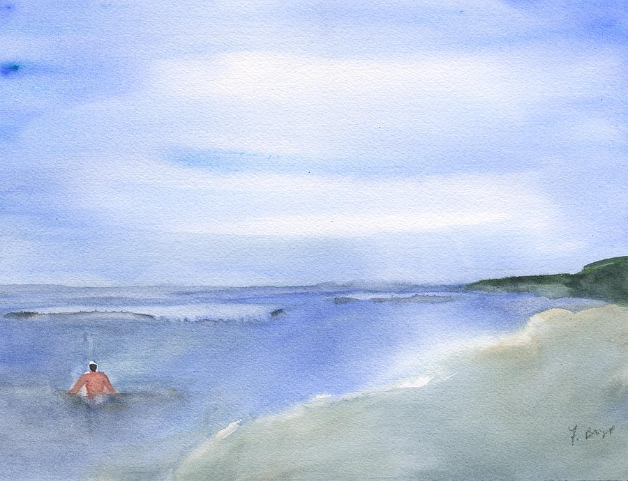 Wade In The Water Painting - Wading In The Water by Frank Bright
