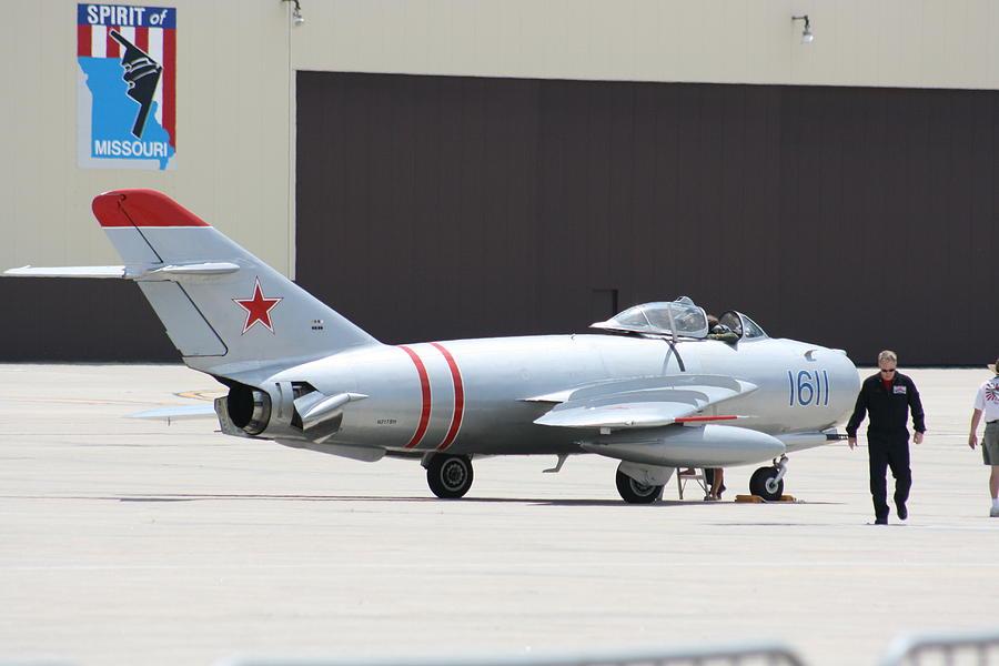 Airplane Photograph - Wafb 09 Mig 17 Russian 6 by David Dunham