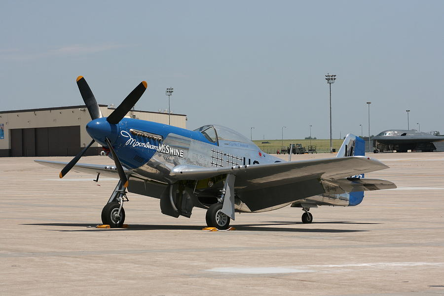 Airplane Photograph - Wafb 09 P-51 Mustang 3 - Darling Of The Sky by David Dunham