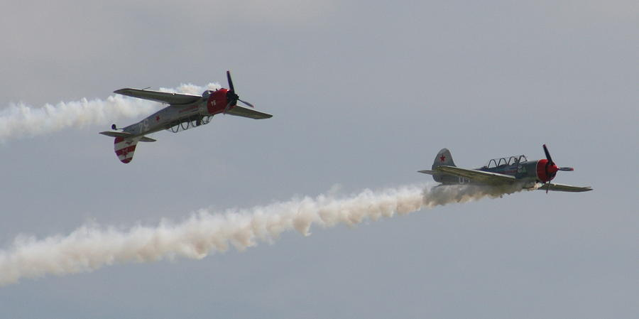 Plane Photograph - Wafb 09 Yak 52 Aerostar 6 by David Dunham