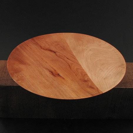 Wood Mixed Media - Wafer Thin Maple And Mahogany Plate by Xavier Hern