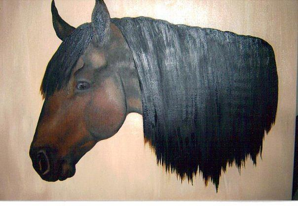 Horse Painting - Waffles by Chelsie Pruden