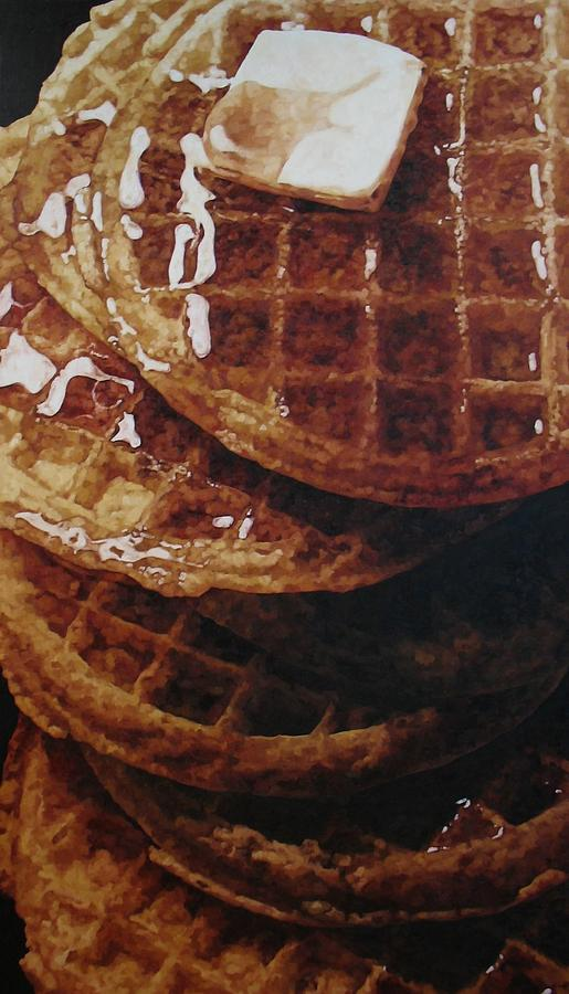 Waffles Painting - Waffles by Pamela Johnson