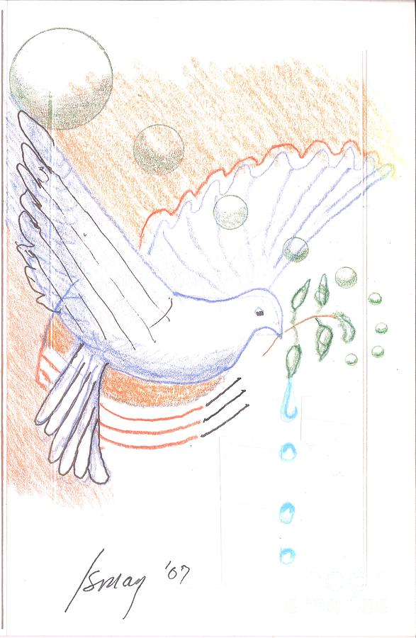 Orbs Drawing - Wage Peace by Rod Ismay