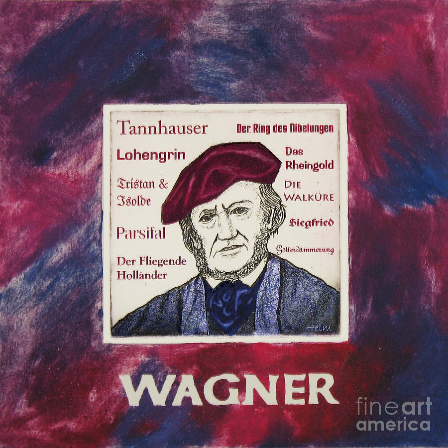 Wagner Mixed Media - Wagner Portrait by Paul Helm