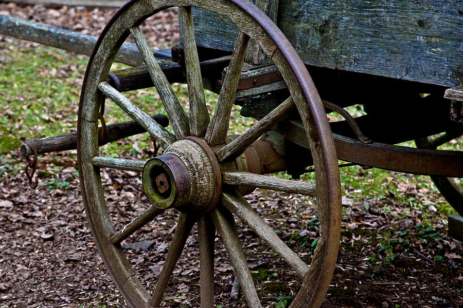 Wagon at Mabry Mill by Mark Currier