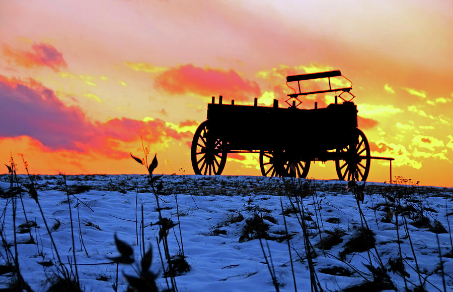 Wagon Hill at Sunset by Wayne Marshall Chase