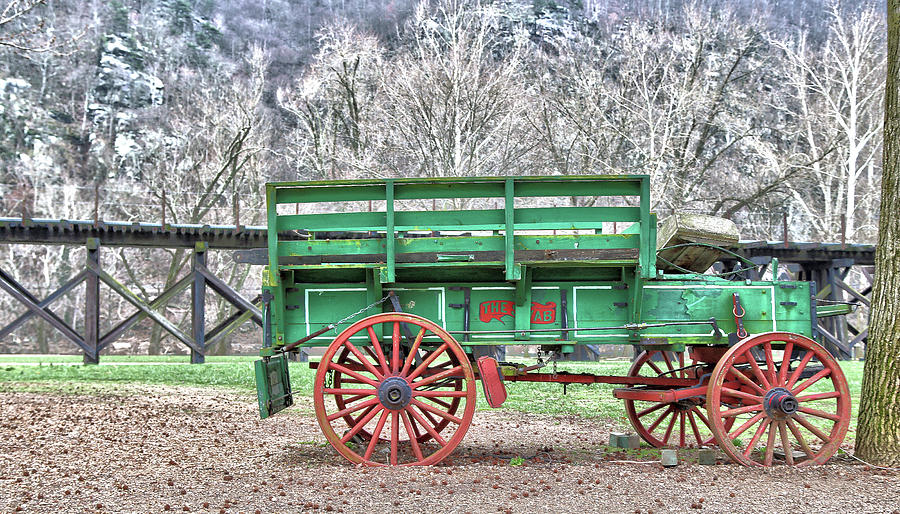 Wagon Photograph - Wagon by Mitch Cat