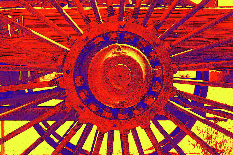 Digital Montage Photograph - Wagon Wheel by Cynthia Powell
