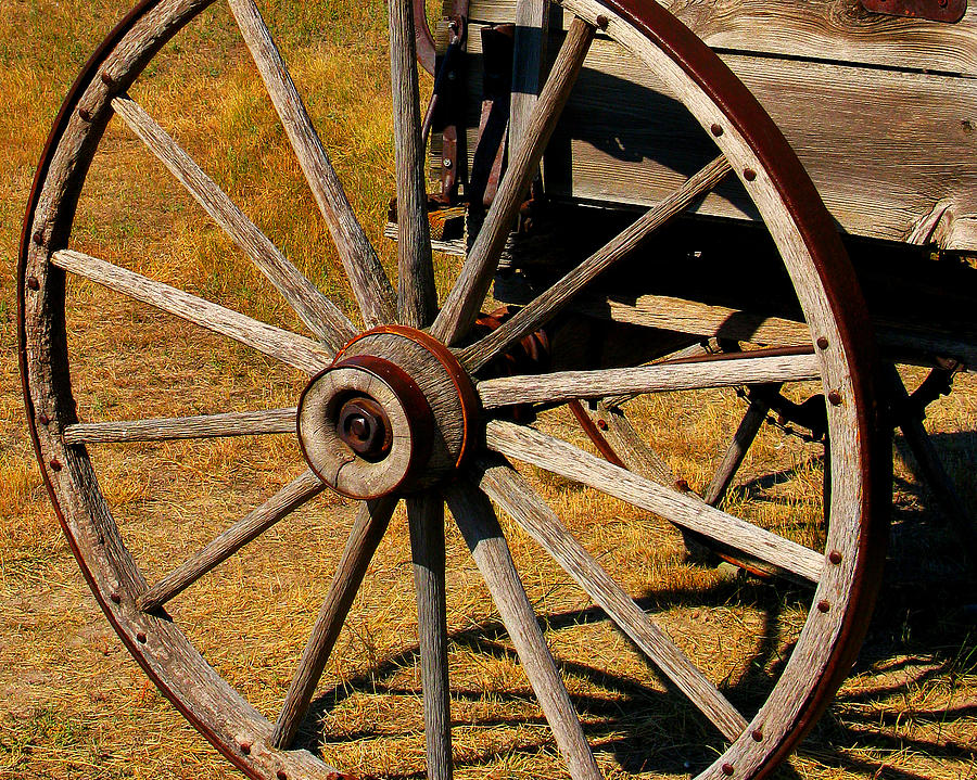 Wagon Photograph - Wagon Wheel by Perry Webster