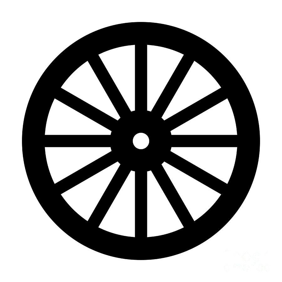 Wagon Wheel Silhouette Digital Art By Bigalbaloo Stock