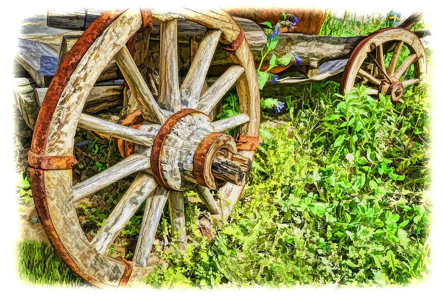 Armenia Photograph - Wagon Wheels by Dennis Cox