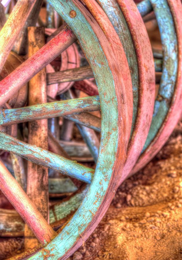 Wagon Wheels Photograph