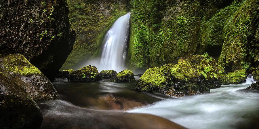 Wahclella Falls Photograph - Wahclella  by Ryan Smith