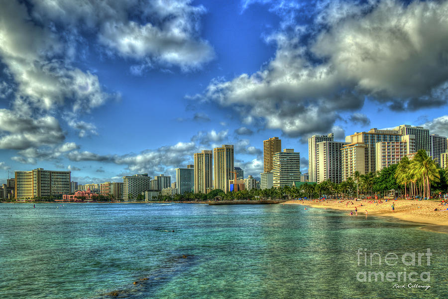 Waikiki Beach Majestic Sunset Honolulu Hawaii Collection Art