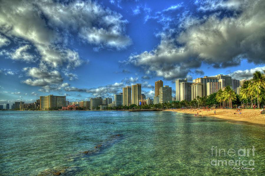 Waikiki Beach Sunset Honolulu Hawaii Collection Art Photograph