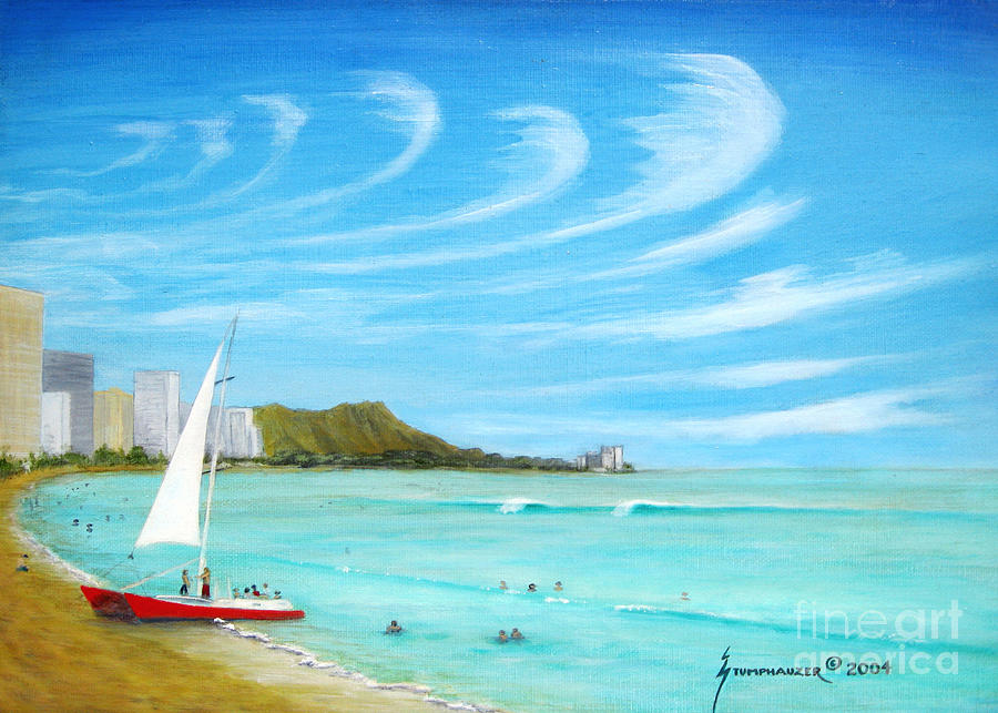 Waikiki Painting - Waikiki by Jerome Stumphauzer