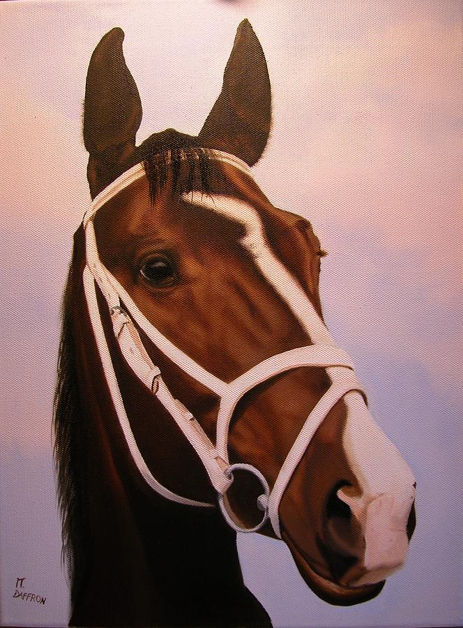 Animal Portraits Painting - Waikiki  by Mike Daffron