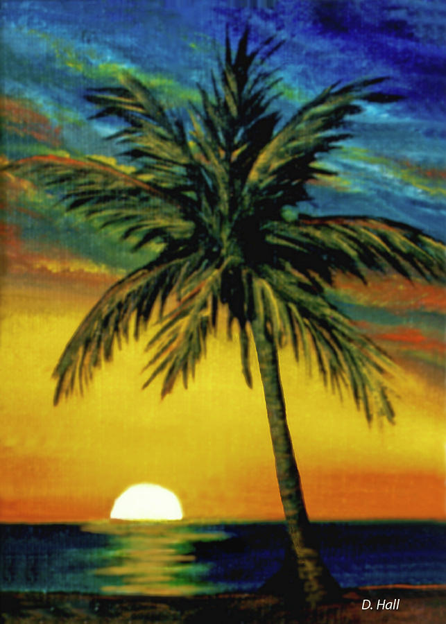 Hawaii Painting - Waikiki Sunset #38 by Donald k Hall
