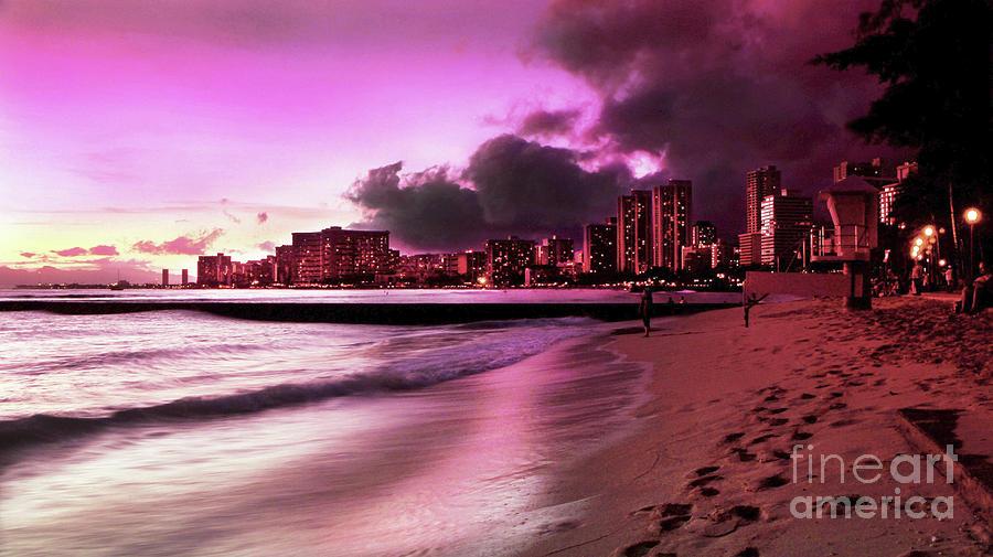 Waikiki Twilight Photograph