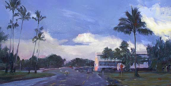 Wailoa Parkway Painting by Rod Cameron