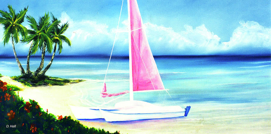 Hawaii Painting - Waimanalo Beach #187 by Donald k Hall