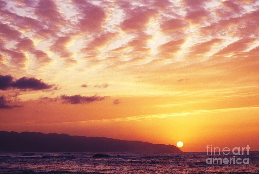 Afternoon Photograph - Waimea Bay Sunset by Bob Abraham - Printscapes