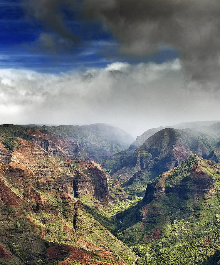 Waimea Photograph - Waimea Canyon Kauai Hawaii by Brendan Reals