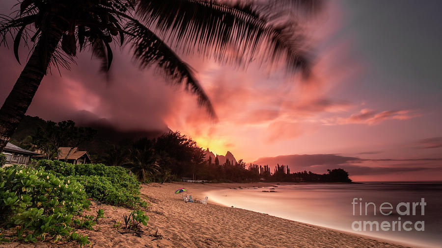 Wainiha Kauai Hawaii Bali Hai Sunset by Dustin K Ryan