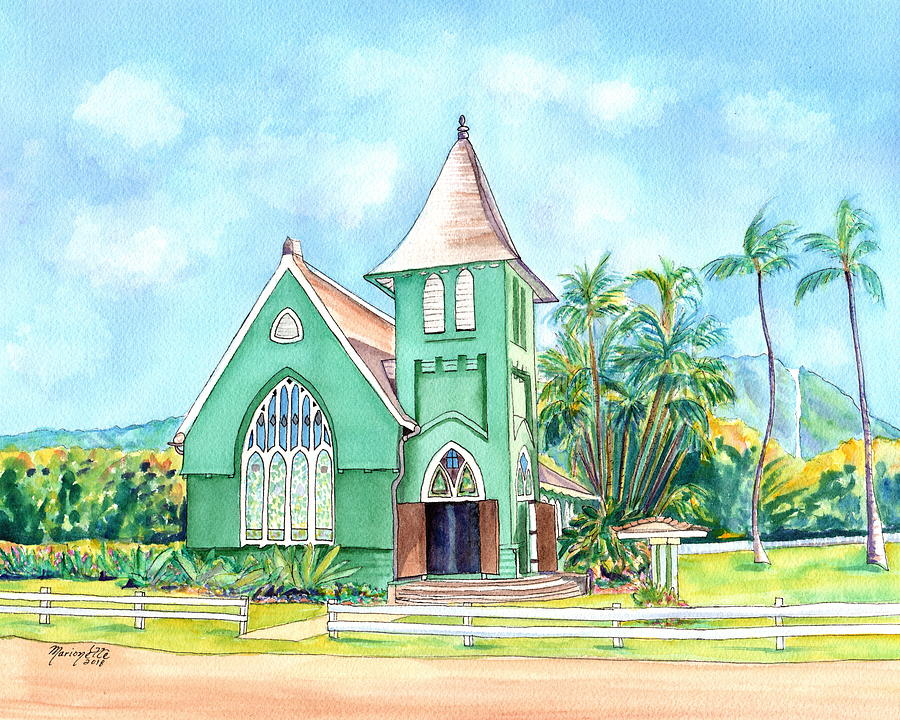Wai'oli Hui'ia Church by Marionette Taboniar