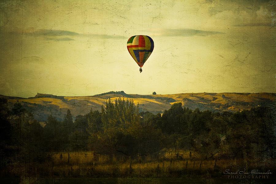 Hot Air Balloon Photograph - Wairarapa by Sarah Ina Alexander