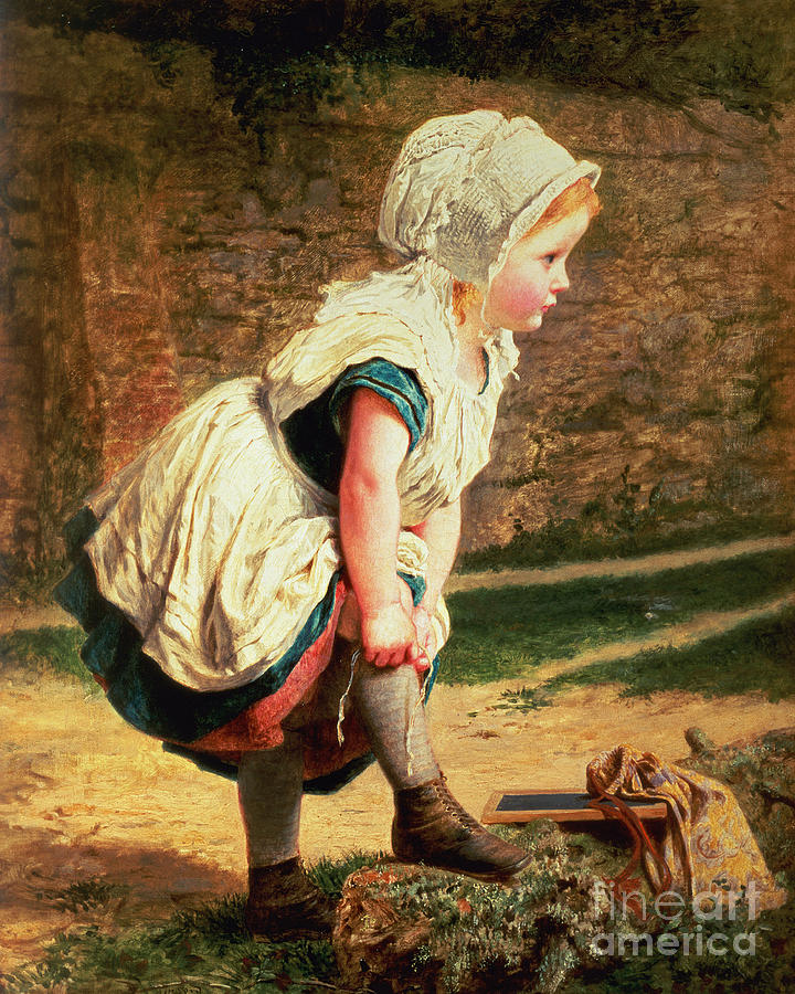 Stockings Painting - Wait For Me by Sophie Anderson