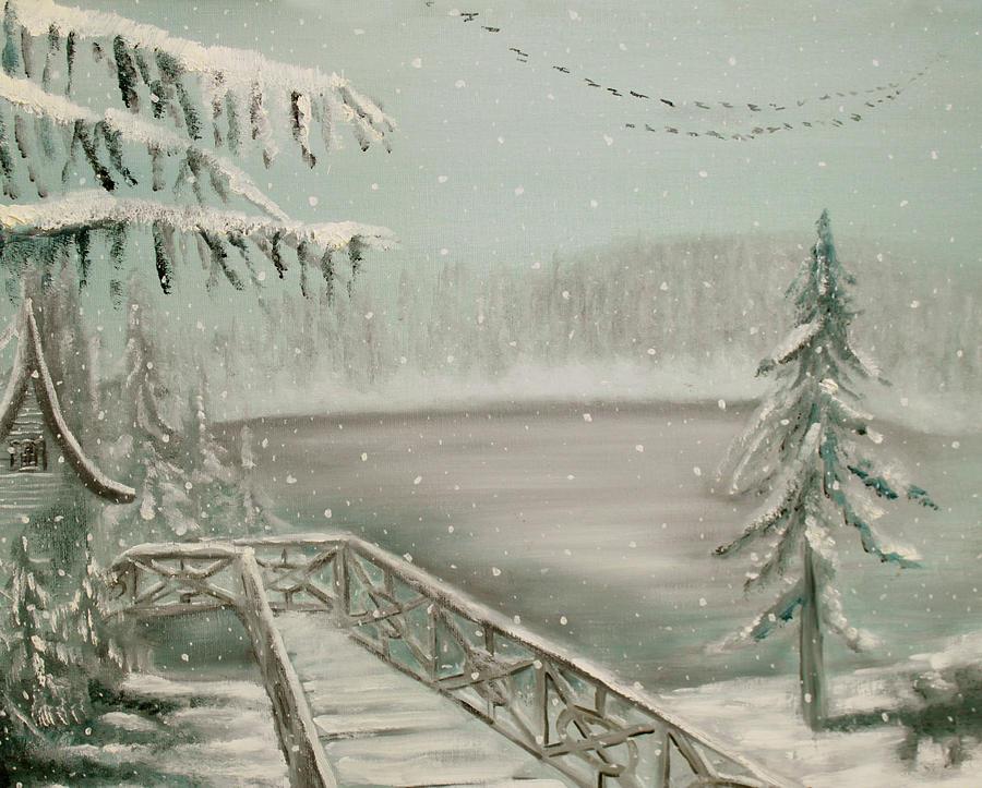 Snow Painting - Wait For Me by Thomas J Nixon