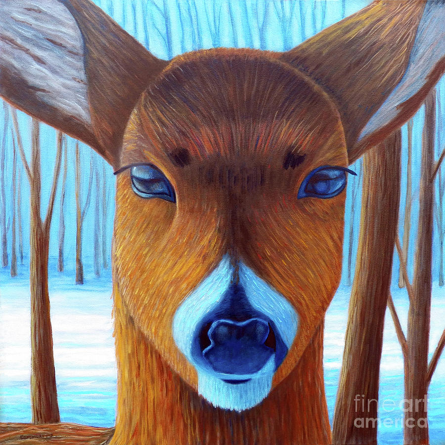Deer Painting - Wait For The Magic by Brian  Commerford