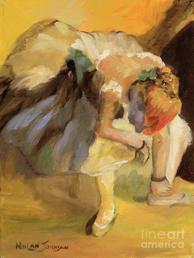 Waiting after Edgar Degas by Marilyn Nolan-Johnson by Marilyn Nolan-Johnson
