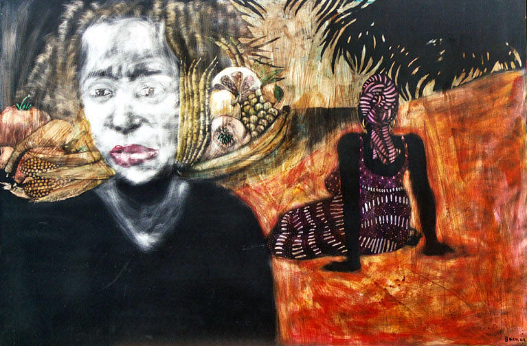 Waiting Mixed Media by Chester Elmore