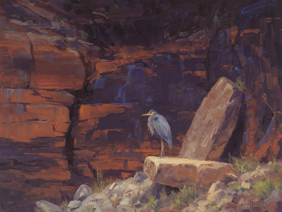 Wading Birds Painting - Waiting by Cody DeLong