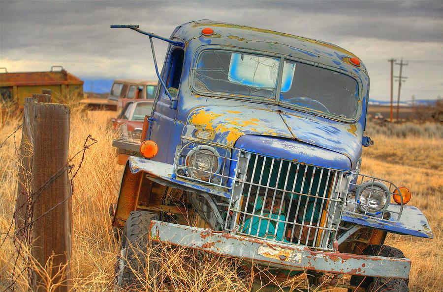 Old Truck Photograph - Waiting by Darrel Giesbrecht